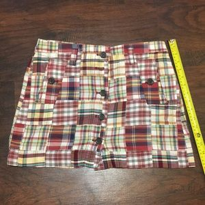 Perfect spring summer plaid skirt by J. crew Sz 6